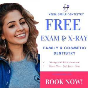 Free Exam & X-ray Keem Smile Banner