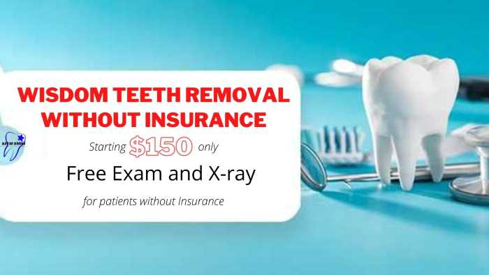 Wisdom teeth removal cost without insurance houston tx 2021